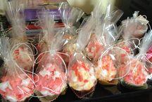 Handmade cupcake candles