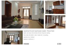 Apartment for rent in Phnom Penh near Russian market / 2 bedrooms Apartment for rent in Phnom Penh near Russian market