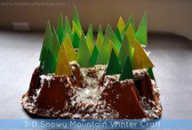 zimní tvoření s dětmi/winter kids crafts