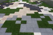 lantai taman
