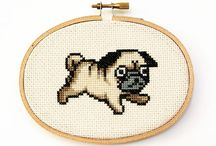 Pug cross stich