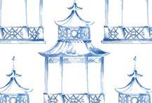 Melissa Hyatt - designs in Blue