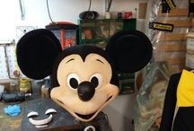 mascotte / Maschere in gommapiuma realizzate interamente a mano