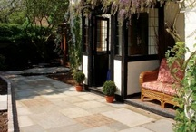 Traditional English & Cottage Garden Design Ideas / Are you looking to design your patio in a traditional cottage look?  We have a wide selection of paving slabs to help create your garden makeover creating a beautifully simple design.   #patio #design #landscaping #paving