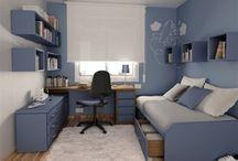 Quarto de visita com Home Office