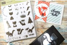 Stampin' Up Foxy Friends Stamp set and Fox Builder Punch