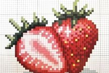 cross stitch foods and drinks