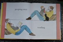 Illustrations showing (human) dads reading to their kids / A collection of images from children's books around the world, all depicting (human) fathers reading to their children.