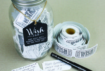 Wish Jars by Splosh / The Wish Jar has been designed to store well wishes, words of wisdom, notes or even memories from past. Each Wish Jar comes complete with a role of tickets and a pen so that you can get started straight away writing wishes for the occasion.