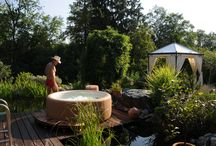 Favourite Softub gardens / Softubs are not only hot tubs but beautiful pieces of outdoor furniture and can serve as a garden feature in their own right