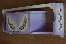 Flower violet shelf