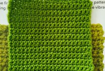 The Art of Crochet / Crocheting a throw with different squares.