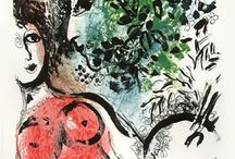 """Marc Chagall - Poster Gallery  / Lithographs from the """"Affiches Originales"""" series. Printed by Mourlot Freres in Paris, 1959."""