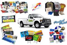 We Print Almost Anything / WE PRINT EVERYTHING FROM: Offset Paper Printing, Full Color Envelope Printing, Custom Screen Printed Garments, Custom Signs, Banners & Truck Lettering, Promotional Products and more!