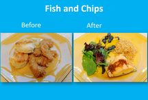 Meal Makeovers ♥ / Any meal can be transformed into a healthy plate. Compare these meal makeovers and you will be amazed how just a few changes can make a big difference.