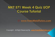 MKT 571 Week 4 Quiz
