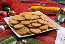 Holiday Entertaining / Photos of Mamie's Famous Cheese Wafers for Holiday entertaining.