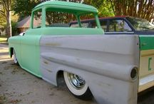 55-59 Chevy pickup / by Aaron V
