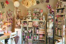 craft room designs / by Lyn Dee Rhodes