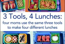 Creative School Lunches / Tired of the same boring lunches for you kids? Here are ideas for nutritious and fun lunches for kids. Now, I just need to make them!