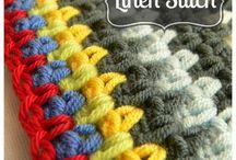 вязание крючком / разноцветное вязание крючком, необычные способы вязания крючком, идеи для вязания крючком