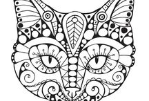 Art for coloring - Abstracts, Zentangles, Mandelas, Doodle Art, etc. / Coloring for adults. / by Gerri Ritter