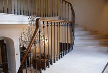 Staircase Balustrades / Bespoke flowing staircase balustrades made to order.