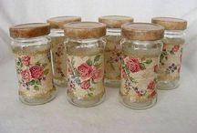 reciclando potes de vidros