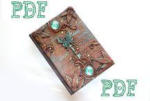 Polymer clay journals