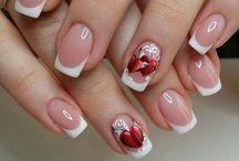 Valentin day nails