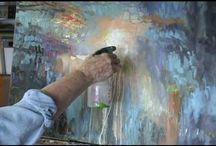 Abstrakte Acrylmalereien
