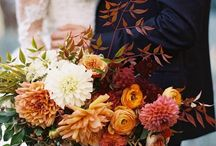 Autumn Weddings - Inspirational colours / A golden time of the year to get married - love it!