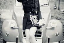 Фотосессия девушки в машине летом / Доска собрана Васей Васечкиным