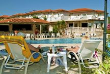 TRAVEL / HOTEL ELINA ,  holidays Greece , karavostasi beach perdika
