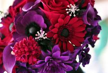 Wedding red and purple