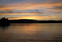 Sunsets on Manchaug Pond