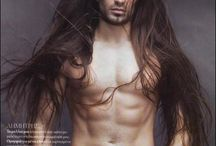 Long haired hotness ♡