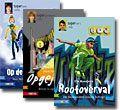 Jeugdboeken / Voor alle kinderen, maar in het bijzonder die van de Westhoek in Maassluis, omdat zij sparen in hun bieb om een boek te kopen een bord met uitgevers van kinderboeken