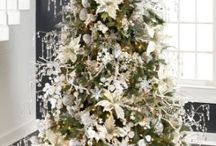 """Arctic Palace Collection / This is an """"Artic Palace"""" collection of coordinated ornaments and flowers which we have used to decorate swags, wreaths and trees.  The items are very affordable and just lovely"""