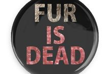 Animal Rights Buttons / Funny Buttons - Custom Buttons - Promotional Badges - Animal Rights Pins - Wacky Buttons