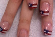 Nail Art - July 4th Independence Day