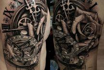 mens rose tattoo