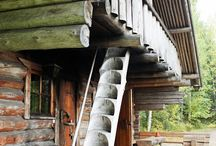 Wood Stairs Portable
