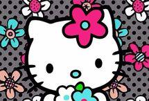 Papel pintado de hello kitty