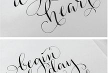 ~ Hand lettering ideas ~
