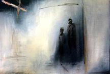 Paintings on acetate