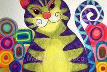 gatti artistici