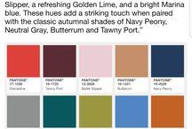 Fall/Autumn 2017 Pantone colours