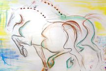 Horse Art, Horse Paintings, Horses, Equine, Contemporary, Equestrian, Absrtact Horses / Donna Bernstein Art, Artist Donna B, Horse Art, Horse Paintings, Horses, Equine,Contemporary, Equestrian, Abstract Horses