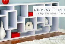 funky book shelves